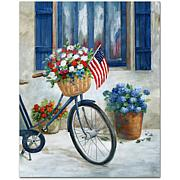 Courtside Market Patriot Bike II Canvas Wall Art