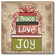 Courtside Market Peace Love & Joy Canvas Wall Art
