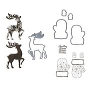 Crafter's Companion by Chloe Mittens and Reindeer Stamp and Die Sets