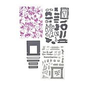 Crafter's Companion Cozy Christmas Stamp, Die & Embossing Folder Set