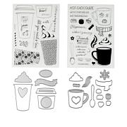 Crafter's Companion Gemini Cozy Drinks Stamp & Die Set