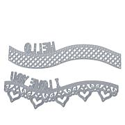 Crafter's Companion Gemini Love Border and Words Curved Edge'able Dies