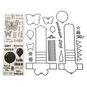 Crafter's Companion Shaped Waterfall Card Stamp & Die Set