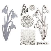 Crafter's Companion Sheena Delicate Snowdrops Stamp and Die Set