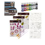 Crafter's Companion Sheena Paint Fusion Bundle - Butterfly Floral