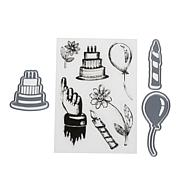 Crafter's Companion Sheena Party Stamp and Die Set