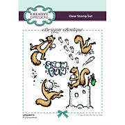 Creative Expressions Designer Boutique It's Snowtime! A6 Stamp Set