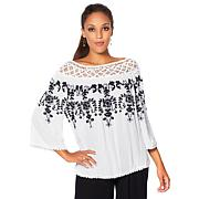 Curations Bohemian Romance Embroidered Lace Blouse - Soft Colors