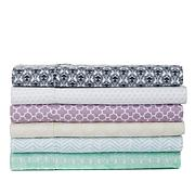 Curations Printed Microfiber 4-piece Sheet Set