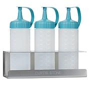 Curtis Stone 3-piece Squeeze Bottles Set with Tray