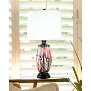 Dale Tiffany Halen Painted Crystal Table Lamp