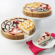 "David's Cookies 4.25 lb. 10"" Cheesecakes - Set of 2"