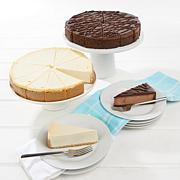 "David's Cookies Set of 2 10"" NY Style & Triple Choc. Cheesecake AS"