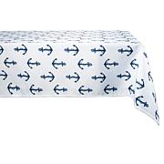 Design Imports Anchors Print Outdoor Tablecloth