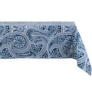 Design Imports Blue Paisley Print Outdoor Tablecloth