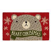 Design Imports Beary Christmas Doormat