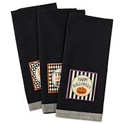 Design Imports Black All Hallows Eve Kitchen Towel Set of 3