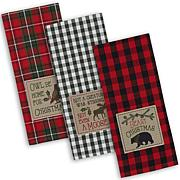 Design Imports Cabin Christmas Kitchen Towels Set of 3