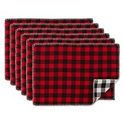 Design Imports Christmas Buffalo Check Placemat 6-pack