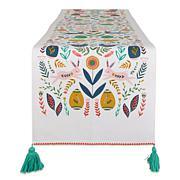 """Design Imports Easter Garden Embellished Table Runner - 14"""" x 108"""""""