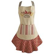 Design Imports Gather Together Ruffle Apron