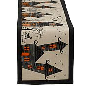 Design Imports Haunted House Table Runner