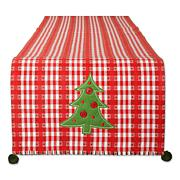 Design Imports Jolly Tree Reversible Embellished Table Runner- 14x72