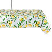 Design Imports Lemon Bliss Print Outdoor Tablecloth