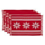Design Imports Nordic Snowflake Jacquard Placemats - Set of 4