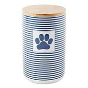 Design Imports Paw Patch and Stripes Treat Canister