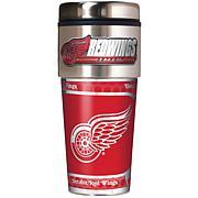 Detroit Redwings Travel Tumbler w/ Metallic Graphics and Team Logo