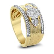 Diamond Couture 0.5ctw Diamond 14K Yellow Gold Band Ring