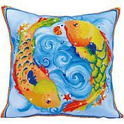 Diamond Dotz Diamond Embroidery Pillow Facet Art Kit - Dancing Fish