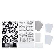 Diamond Press Holiday Shaker Stamp and Die Kit