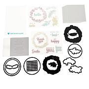 Diamond Press Rustic Wreath Shaker Card Stamp and Die Set