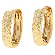 Dieci 10K Gold Diamond-Cut and Polished Reversible Hoop Earrings