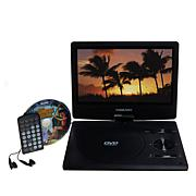 "DigiLand 10"" Swivel Portable DVD Player with Earbuds and 4-Movie DVD"