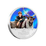 "Disney Frozen ""Kristoff & Sven"" LE Colorized $2 Coin"