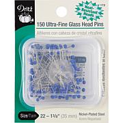Dritz Ultra-Fine Glass Head Pins 150-pack