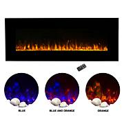Electric Fireplace - Wall Mounted LED Fire and Ice Flame With Remot...