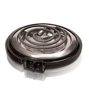 Elite Cuisine Single Coiled Electric Burner Hot Plate - Black