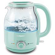Elite Gourmet 1.2L Adjustable Temp Electric Honeypot Glass Kettle Mint