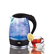 Elite Platinum Cordless 1.7-Liter Glass Kettle - Black