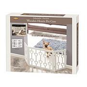 Etna Wooden White Heart Design Pet Gate