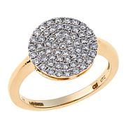 Ever Brilliant 0.48ctw Lab-Grown White Diamond 14K Circle Ring