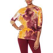 EZ by Nina Leonard Waffle Knit Tunic