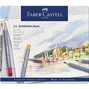Faber-Castell Goldfaber Aqua Watercolor Pencils Tin Set - Set of 24