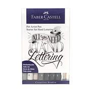 Faber-Castell Pitt Artist Pen Hand Lettering Wallet Starter Set of 9