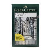 Faber-Castell Pitt Artist Pen Soft Brush Shades of Gray Set of 8