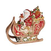 Fitz and Floyd Damask Holiday Santa Cookie Jar